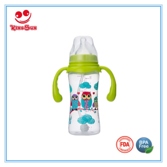 50158b8d9 China 300ml BPA Free PP Baby Feeding Bottle with Handle - China Baby ...