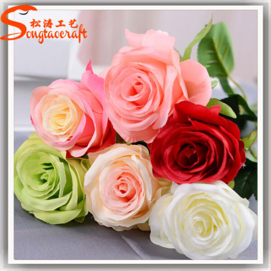 China Unique Style Decorative Handmade Metal Artificial Rose Flower