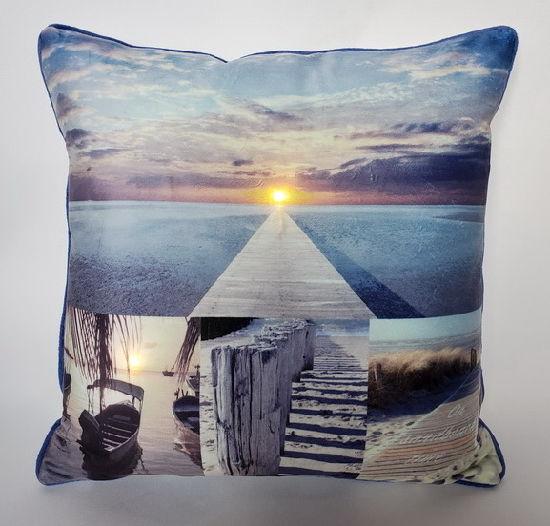 Daily LED Cushion for Decoration, Sea Scenery LED Light up Cushion