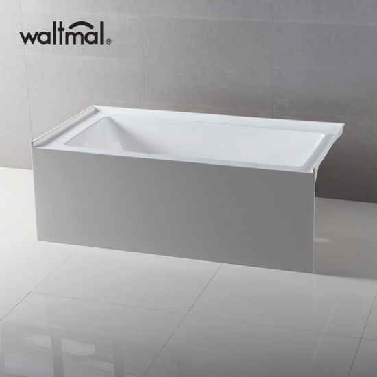 Cupc High Quality Simple Built-in Skirted Bathtub with No-Slipping Bottom pictures & photos