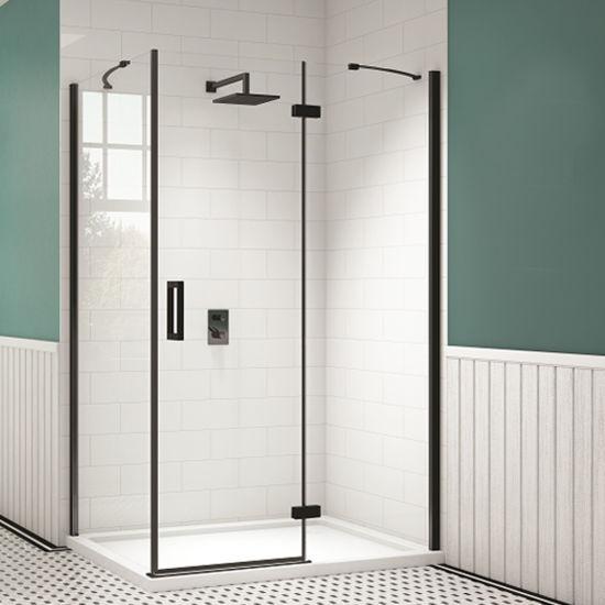 New Design Black Aluminum Profile Glass Shower Enclosure