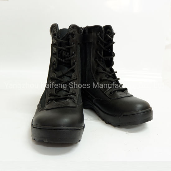 High Quality Genuine Leather Steel Toe Combat Military Safety Boots pictures & photos
