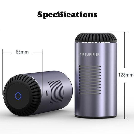 Portable Car Home Desktop Air Purifier Negative Ion UVC Ultraviolet Germicidal Lamp Disinfection Purifier