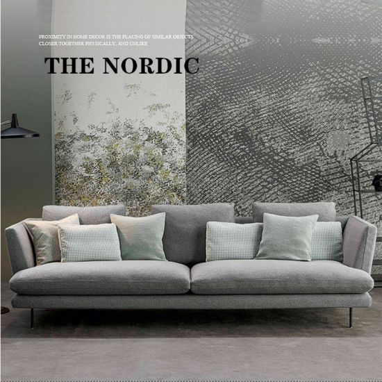 China Nordic Cloth Art Sofa Eiderdown Latex Sofa Simple Italian Minimalist Sofa Four Seats Small Family Sofa Sitting Room Sofa Sectional Sofa 0081 China The Nordic Sofa Small Family Sofa