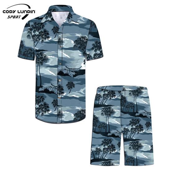 Cody Lundin Ropa De Hombre Vacation Aloha Shirts Cotton Men Beach Shirts Casual Hawaiian Short Sleeve Roupas Gomlek Sum