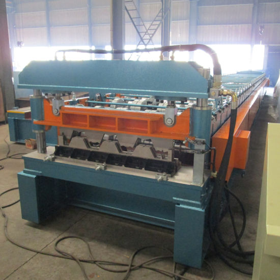 China Top Building Steel Floor Deck Profile Metal Roofing Sheet Making Machine Roll Forming Line for Sale