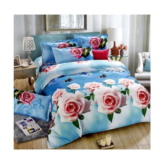 Home Textile Beautiful Disperse Print Bedsheet Fabric Used by 100% Polyester Fabric