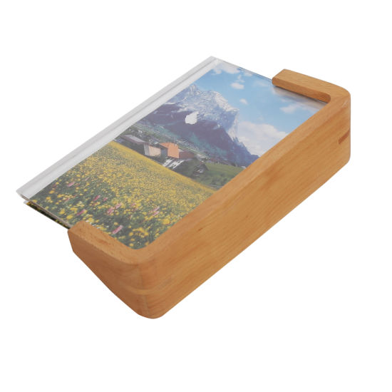 """6""""*8"""" U-Shaped Solid Wooden & Acrylic Photo Picture Frame for Friends"""