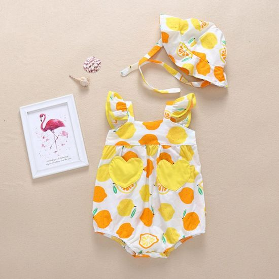 Bkd Printing Baby Clothes Sleeveless Soft Cotton Colorful Baby Bodysuit