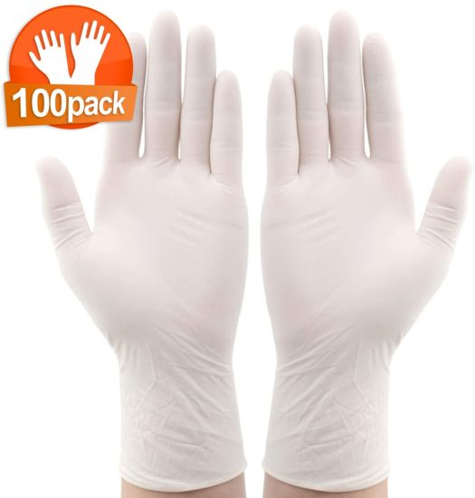 Disposable Latex Gloves, Comfortable to Wear Cleaning Gloves 100PCS Neutral