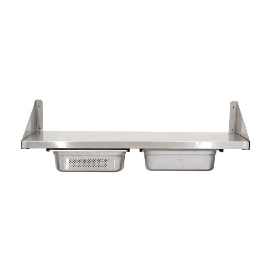Stainless Steel Wall Shelf With Drawers