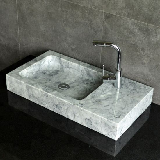 China Stone Bathroom Sink White Marble