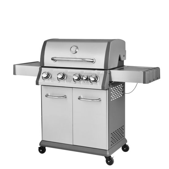 Stainless Steel 4 Burner+Side Burner CE Gas BBQ Barbecue Grill