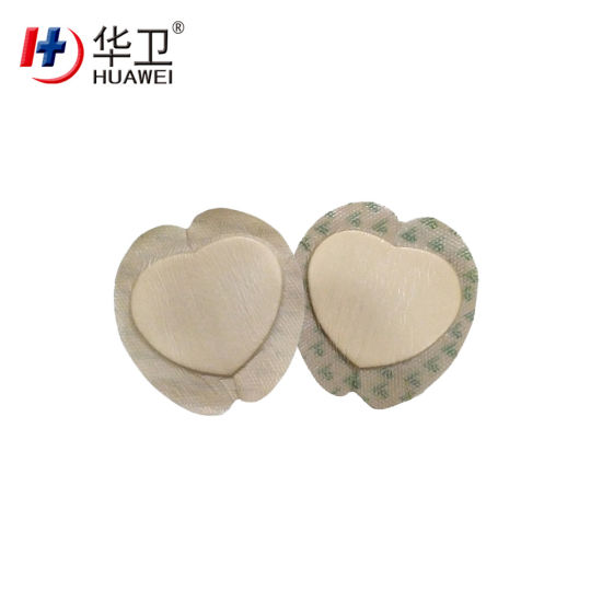 Surgical Silicone Foam Wound Dressing Heart Shape for Curing Bedsores 18*18cm