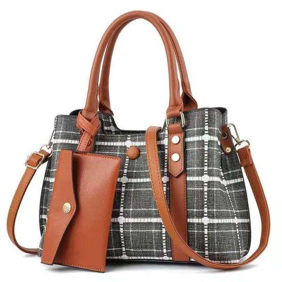 Luxury Designer Ribbon Women PU Leather Shoulder Bags Fashion Quilted Lattice Tote Bag Lady Handbag