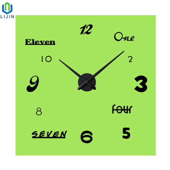 Acrylic Creative Wall Clock European Modern DIY Wall Clock