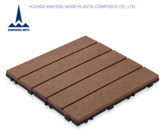 Xf Anti-Fade Water-Proof DIY WPC Decking Tile
