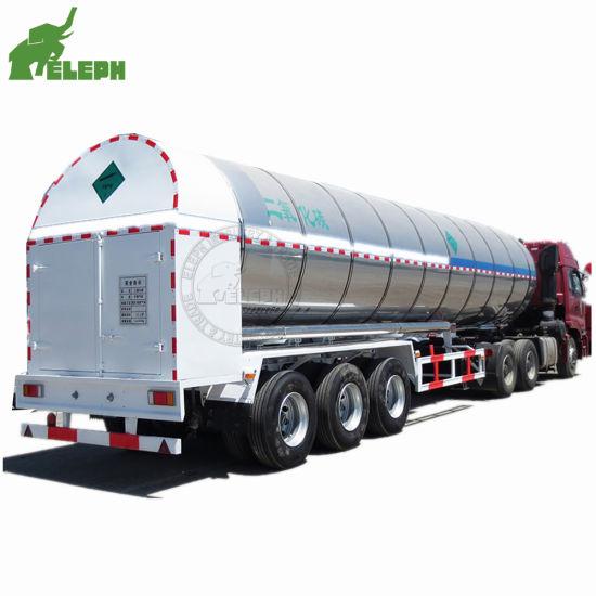 3 Axles LNG Gas Transport Truck Semi Tanker Trailer Size Optional Fuel Tank