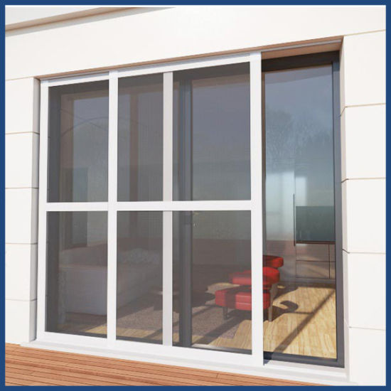 Top Quality and Strong Design Aluminum Double Glazing Doors with Insect Screen