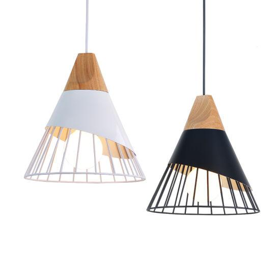 China Slope Lamps Pendant Lights Wood