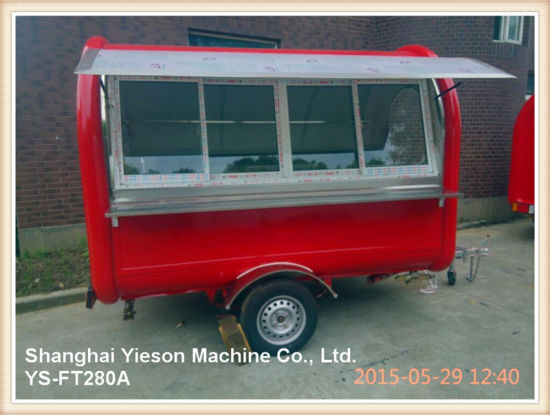 Ys-FT280A High Quality Mobile Shop Trailer Mobile Restaurant for Sale