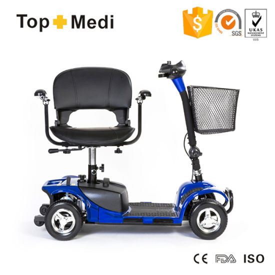 Topmedi Four Wheel New Product Detachable Adjustable Electrical Mobility Scooter