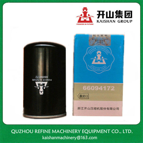 Oil Filter 66094172 for Kaishan 7.5kw-45kw Compressor Maintenance pictures & photos