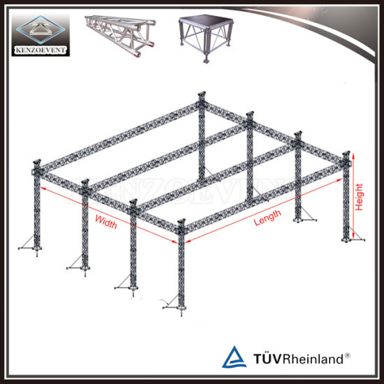 Flat Roof Truss Structure Lighting Box Truss