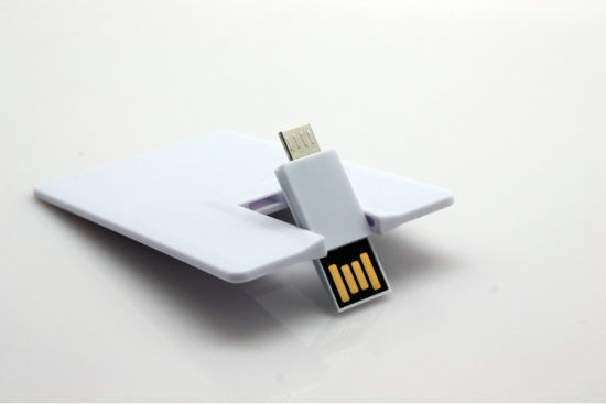 Credit Card Micro USB OTG 8GB 16GB Mobile Pen Drive pictures & photos