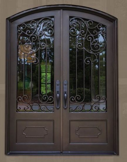 China Steel Iron Door With Reflective Glass China Entry Door Main