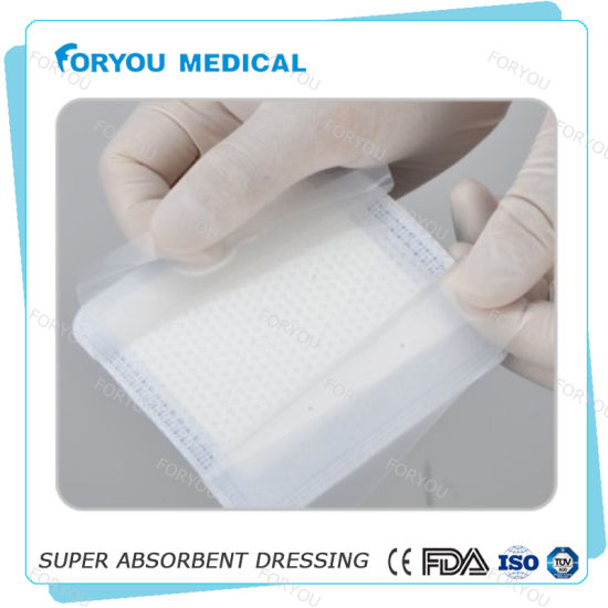 Superabsorbent Foam Dressing with Silicone Contact Layer pictures & photos