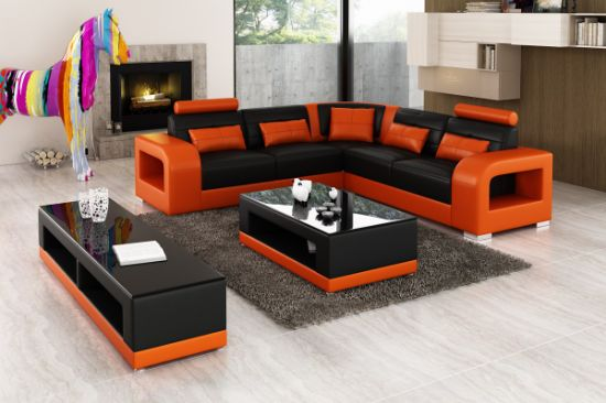 Home Furniture U Shape Leather Corner Sofa pictures & photos
