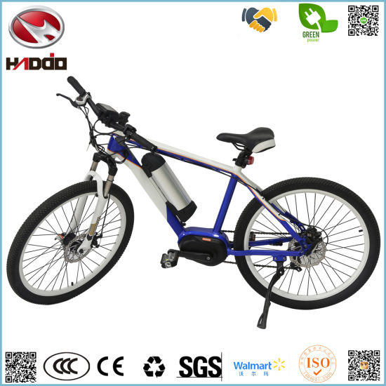 Hot Sale Wholesale Cheap 250W Electric Bike Aluminium Alloy Frame Bicycle MID Motor MTB E-Bike with Pedal