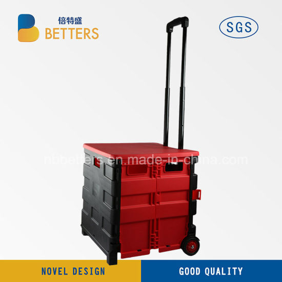Wholesales Black Red Trolley Rod Shopping Cart of Betters