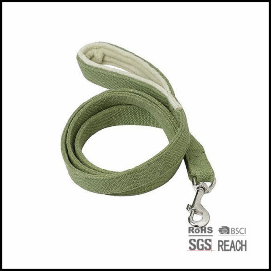 Eco Friendly Bamboo Cotton Pet Dog Leash with Soft Handle
