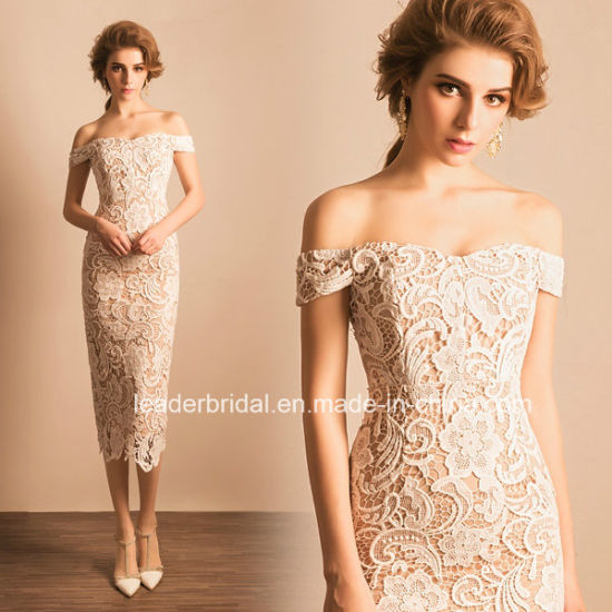 China Wholesale Bridal Evening Gowns Lace Retail Short Wedding Dress