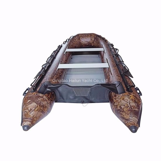 Foldable PVC Inflatable Boat with Deep V Inflatable Keel and Aluminum Floor