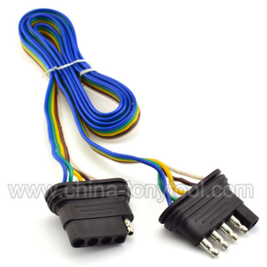 china double ended wire harness extension 5 way china trailer rh tonnytool en made in china com 7 Pin Trailer Connector travel trailer wiring harness extension