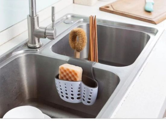 Plastic Kitchen Organization Sink Caddy Sponge Holder Saddle Bag China Sink Caddy Sponge Holder And Sink Sponge Holder Price Made In China Com