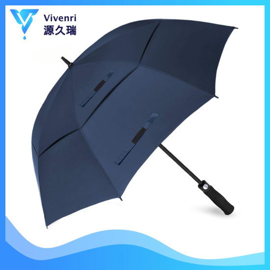 60/68inch Automatic Customized Logo Printed Golf Umbrella with Double Vented Canopy for Gift/Promotion/Adversting/Brand Umbrella