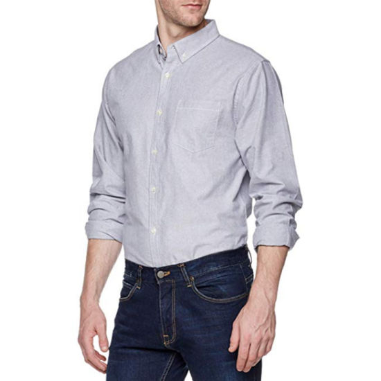 Wholesale High Quality Men Long Sleeve Casual Shirt