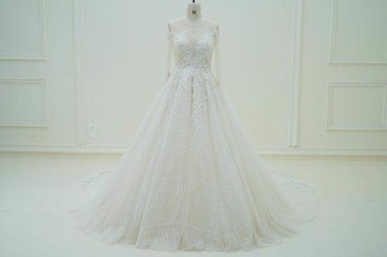 56566d121bbd Long Sleeve Lace Evening Prom Custom Make Wedding Dress Bridal Gowns CZ5506