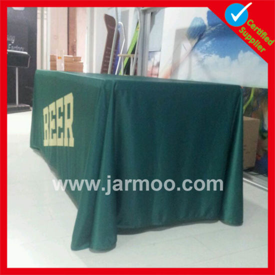 Custom Advertising Polyester Stretch Printed Table Cloth pictures & photos