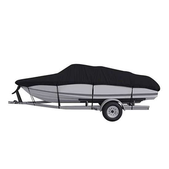 """GREAT QUALITY BOAT COVER V-Hull Runabout I//O Boat Cover 17/'-19/' beam up to 96/"""""""