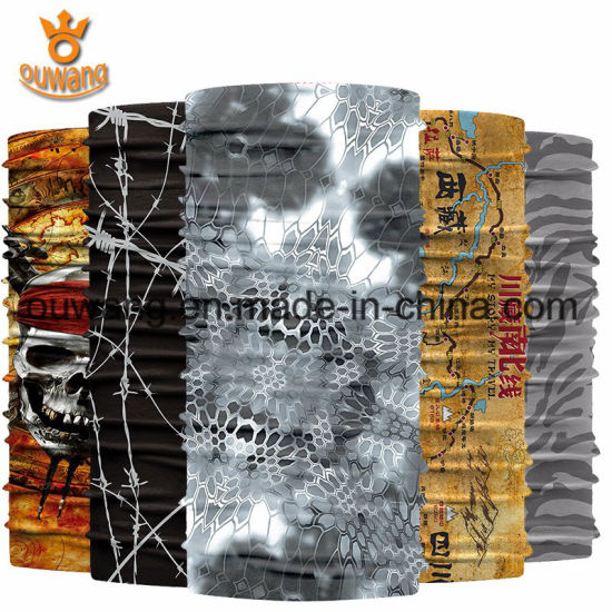 Sublimation Printing Multifunctional Polyester Head Wrap Bandana