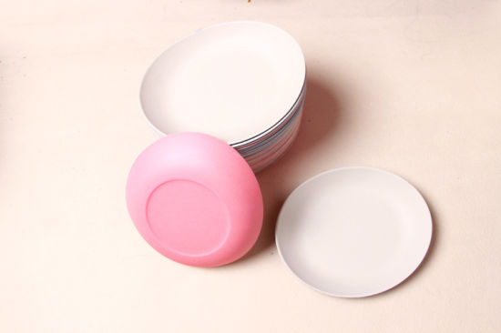 Round Bamboo Fish, Food Serving Dinner Plate (YK-P3024)