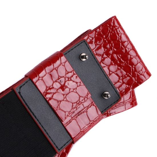 Red Bow PU Leather Elastic Ladies Belts (RS12004) pictures & photos