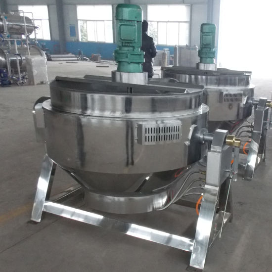 Stainless Steel Steam Jacketed Kettle/500 Liter Steam Jacketed Cooking Kettle
