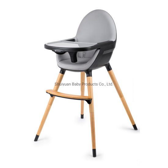 3in1 Wooden High Chair With Pu Leather, Seat Cushions For Wooden High Chairs