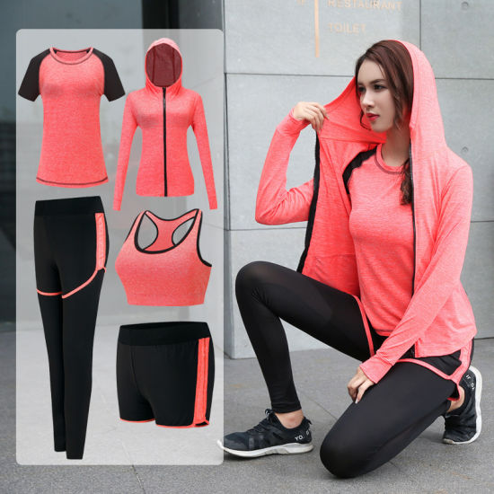 Wholesale Womens 5PCS/Set Tracksuit Ladies outdoor Running